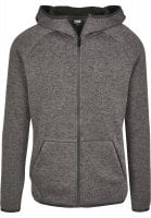 Fleece sweater with hood sir dark grey