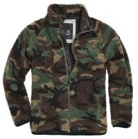 Fleece jacket teddy camouflage 1