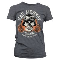 Gas Monkey Garage skull girl T-shirt 1