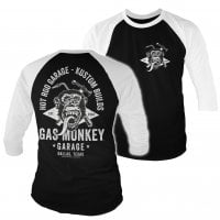 Gas Monkey torch and hammer baseball tee 3/4 sleeve 1