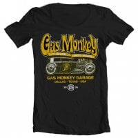 GMG wide neck T-shirt - green hot rod