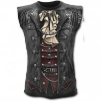 Goth Wrap allover sleeveless t-shirt