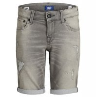 Gray jeans shorts children 1