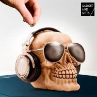Skull with Sunglasses Money Box 1