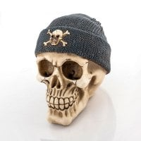 Skull Money Box with Pirate Hat 2