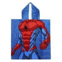 Poncho-Towel with Hood Spiderman