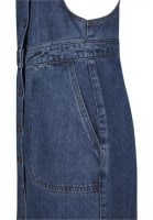 Ladies Denim Dungarees Dress pocket