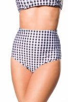 High checkered bikini panty