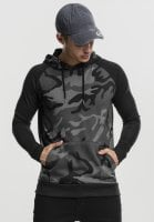 Hoodie camo mens with black arms pocket