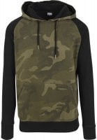 Hoodie camo mens with black arms oliv