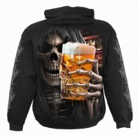 Hoodie with print Live Loud Men beer