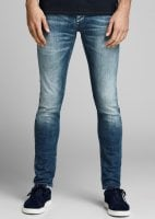 Jeans blue washed slimfit jeans men