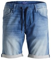 Jeans shorts with elastic waist