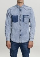 Blue Jeans shirt with stylized chest pocket