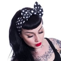 Jolene Headband White Polka Dots