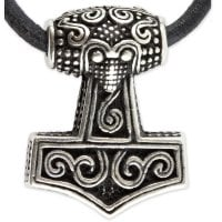 Mjolnir silver necklace