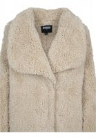 Ladies Soft Sherpa Coat sand
