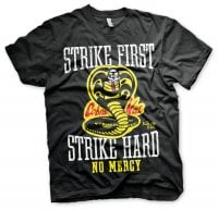 Karate Kid - Strike First, Strike Hard - Cobra Kai No Mercy T-Shirt 1