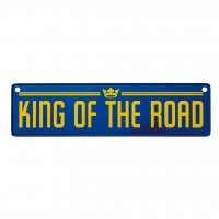 King of the road bilskylt