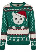 Kitty Christmas sweater lady 1
