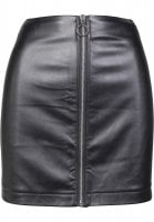 Ladies Faux Leather Zip Skirt front