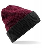 Knitted two-color beanie