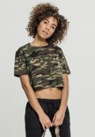 Short camo oversize t-shirt lady