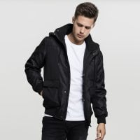 Short winterjacket men black front