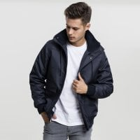 Short winterjacket men Navy front