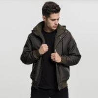 Short winterjacket men Olive front