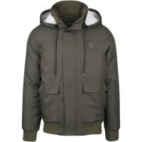 Short winterjacket men Olive 1