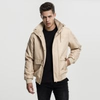 Short winterjacket men beige front