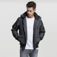 Short winterjacket men dark grey front