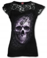 Lace skull top with lace