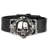 Leatherbracelet with skull skull - Mummy Skull