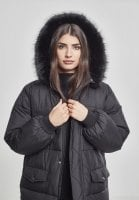Long puff jacket with fur hood 10
