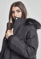 Long puff jacket with fur hood 9