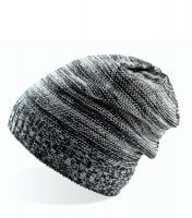 Long knitted beanie Grey/Black