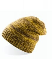 Long knitted beanie Yellow/Brown