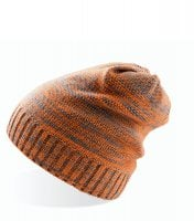 Long knitted beanie Orange/Grey