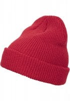Long knitted hat red