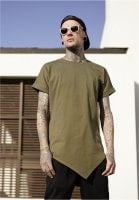 Long t-shirt for men asymmetric