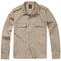 Long sleeve shirt army Beige
