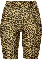 Leopard patterned cycling pants lady front