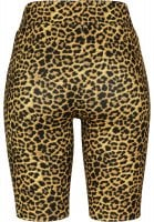 Leopard patterned cycling pants lady orange