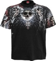 Life and death cross t-shirt sir print in front