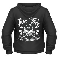 Live free or die for nothing zip hoodie