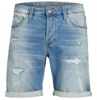 Light worn jeans shorts