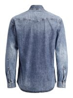 Light blue jeans shirt with wear 3