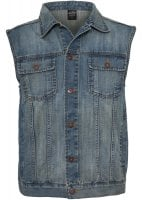 Light blue jeans vest men plus size 1